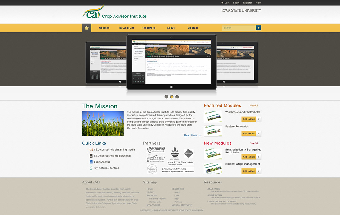 Crop Advisor Institute Mockup