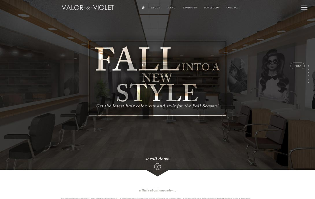 Valor & Violet Salon in Ames